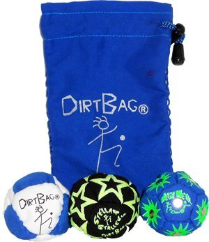 - Dirtbag All Star 3 Pack with Pouch - Blue/White w/ Blue Pouch