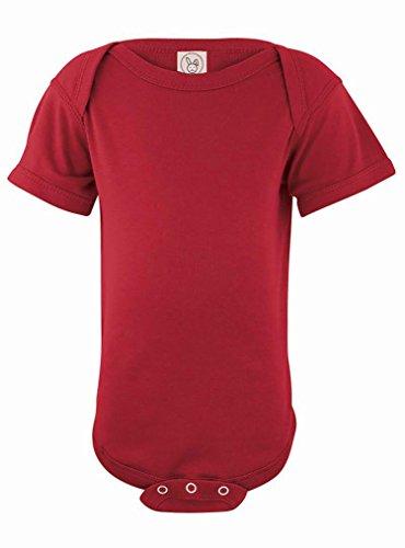 Rabbit Skins 100% Cotton Infant Baby Fine Jersey Bodysuit [Size Newborn] Garnet Red Jersey Onesie