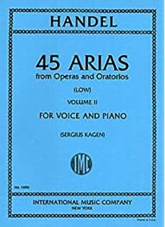 Musical Instruments & Gear Buy Cheap Handel 45 Arias Volume 1 Low Voices Vocal Sheet Music Book Same Day Dispatch