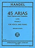 img - for 45 Arias from Operas and Oratorios for Voice and Piano (Low) (Volume II) book / textbook / text book