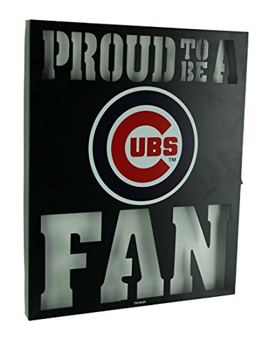 Things2Die4 Proud to Be A Chicago Cubs Fan Cutout Metal Wall Sign