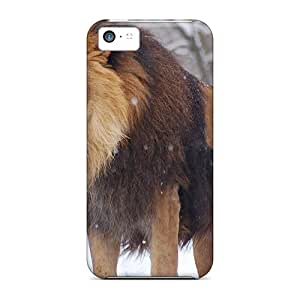 Snap-on Case Designed For Iphone 5c- Beautiful Lion In The Snow