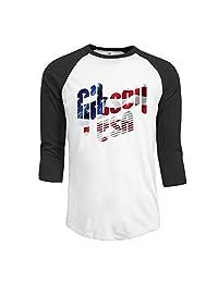 Men's Gibson USA Flag 3/4 Sleeve Raglan T-Shirt