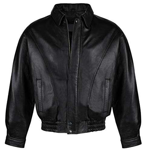 Victory Outfitters Men's Genuine Leather Bomber Jacket
