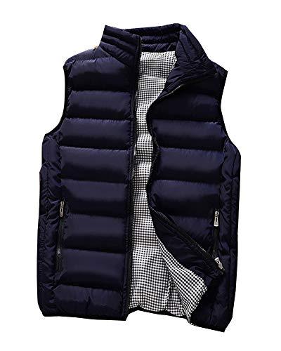 Sans Bodywarmer Homme Manteau Manche Foncé Légère Bleu Veste Blouson Gilet Ud41qw1