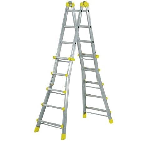 WOLFPACK LINEA PROFESIONAL 23020400 Escalera Telescópica Aluminio ...