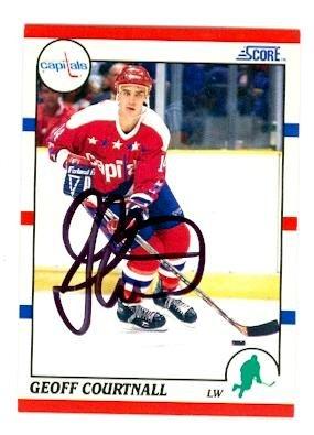 Geoff Courtnall autographed Hockey Card (Washington Capitals) 1990 Score No.124