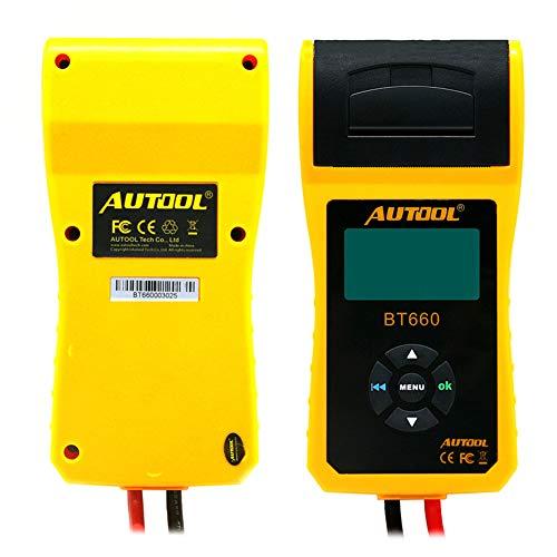 WonVon 12V Car Battery Load Tester and Analyzer,AUTOOL BT660 12V/24V Car Battery System Tester Cranking/Charging Test with Printer for Heavy Duty Trucks Cars ATV by WonVon (Image #6)