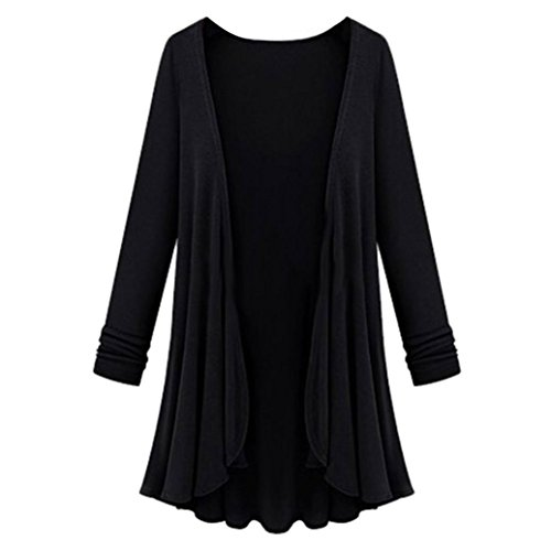 Blouse Slim Femmes Cardigan AIMEE7 Longues Manches Mode Noir Manteau Chandail Top wIptR4