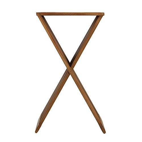 Bare Decor Taj Folding Plantstand Pedestal Table in Solid Teak Wood, 28