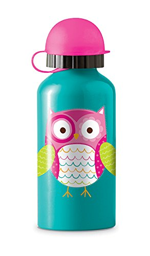 UPC 732396103361, Crocodile Creek Girls Eco Owl Stainless Steel Water Drinking Bottle, Teal, 7""