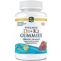 Nordic Naturals Vitamin D3 Plus K2 Gummies - Vitamin D3 from Natural Cholecalciferol...