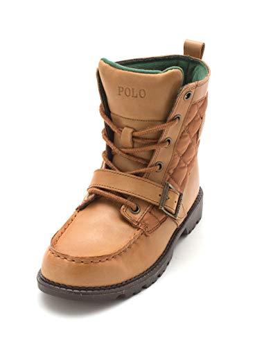 Polo Ralph Lauren Womens Ranger Hi 2 Closed Toe, Tan, Size 3.0 M Youth Big Kid ()
