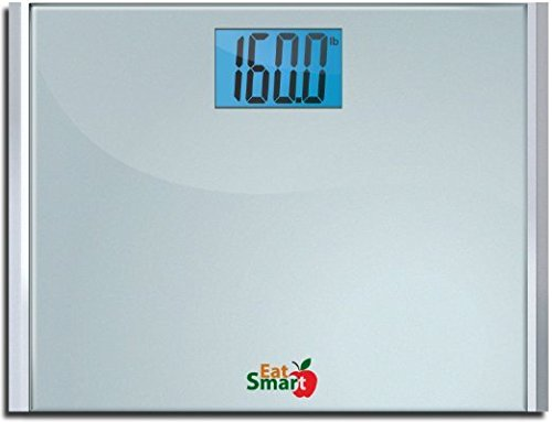 EatSmart Precision Plus Digital Bathroom Scale with Ultra-Wide Platform, 440 Pound Capacity by EatSmart