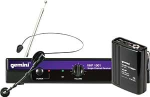 Gemini - Vhf-1001hl canal 8 micrófono inalámbrico diadema vhf1001hl