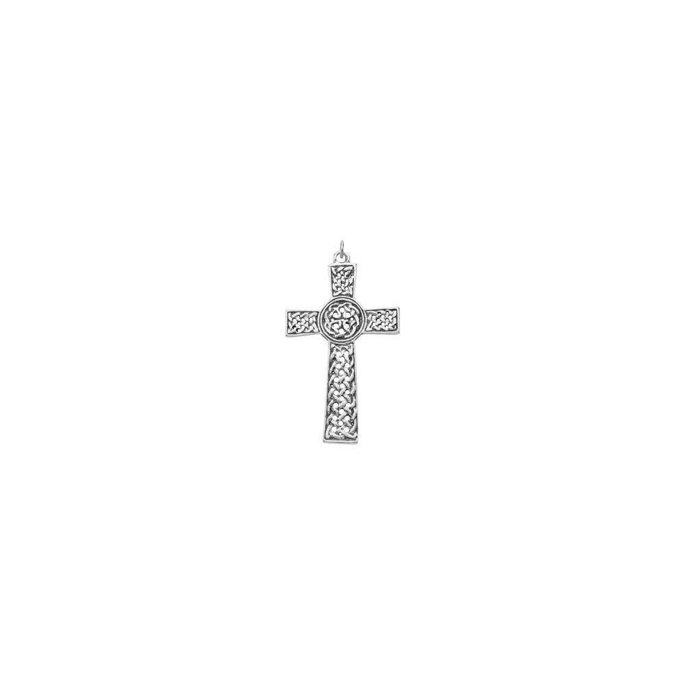 FB Jewels 925 Sterling Silver Celtic-Inspired Cross Pendant