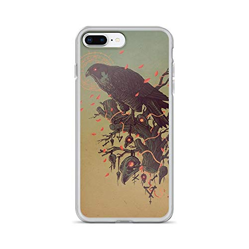 iPhone 7 Plus/8 Plus Pure Clear Case Cases Cover Dark Raven Digital Folk Art