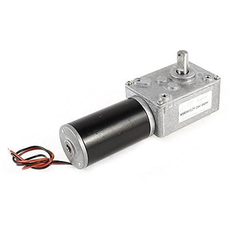 DC 24V 5 rpm 8mm Dia eje de la turbina Worm Gear Motor Box reducción de