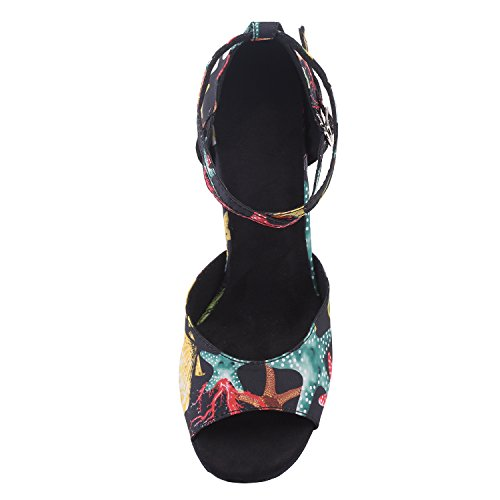 Hxyoo Indoor Ballroom Dance Zapatos Para Salsa Latin T04 Black