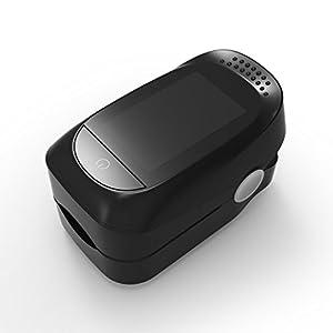 Onpiece Oximeter Blood Saturometro Monitor SPO2 PR Oximetro De Pulso Portable (Black)