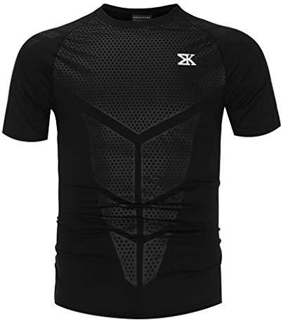 スポーツシャツ メンズ 半袖 トレーニング ブラウス 吸汗速乾 ティーシャツ 高弾性 快適 フィットネス ヨガウェア ランニングウェア 大きいサイズ Tシャツ オールシーズン アンダーシャツ スウェット おしゃれ トレーナー スウェット