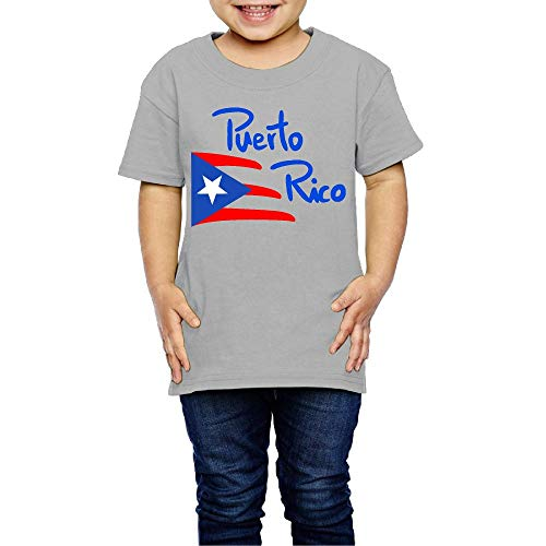 Puerto Rico Costume Kids Boys Girls Crewneck Short Sleeve Shirt T-Shirt for 2-6 Toddlers ()
