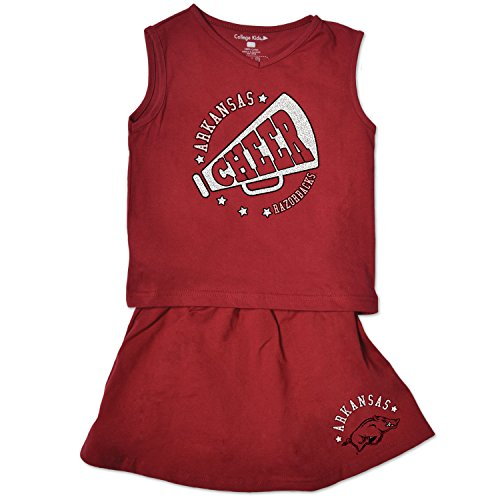 NCAA Arkansas Razorbacks Toddler Girl Cheer Set, 3 Toddler, Cardinal