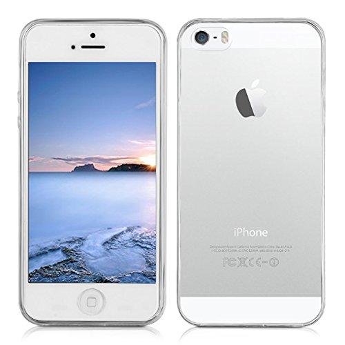 iPhone 5S Hülle Yunbaozi Transparent TPU Case *[Ultra Weich]* Hochwertiges Silikon Schutzhülle Flexibel Schlank Hülle iPhone 5 Schützend Hülle Anti-Scratch Anti-Schock Clear Cover für iPhone SE