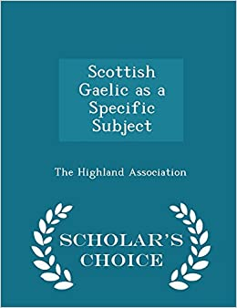 Book Scottish Gaelic as a Specific Subject - Scholar's Choice Edition