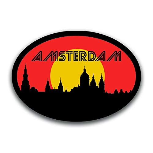 Amsterdam Netherlands Skyline Vinyl Decal Sticker   Cars Trucks Vans SUVs Windows Walls Cups Laptops   Full Color Printed   5.5 Inch   KCD2584 - Bridge Andrews