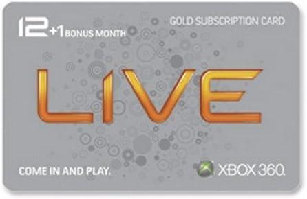 Amazon.com: Xbox 360 Live 12 Month Gold Card plus 1 Month ...