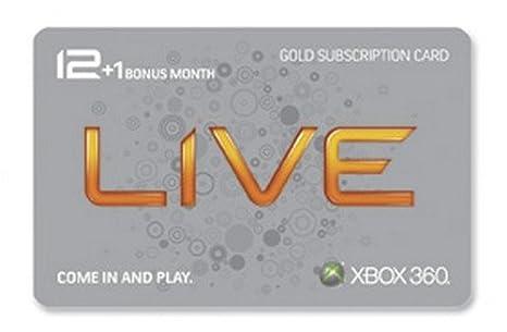 Microsoft Tarjeta de Oro de Xbox 360 Live 12 Meses más 1 ...
