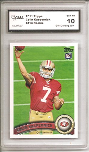 Colin Kaepernick San Francisco 49ers 2011 Topps Rookie Graded Football Card #413 GMA 10