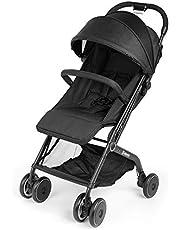 Kinderwagen Leichtgewicht mit Zugstange Regenschirm Katze Tatze Kinderwagen Einhandfalten Design für Baby Infant Reise - Schwarz