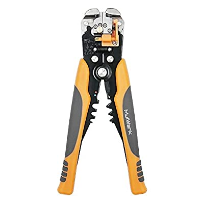 """MulWark 8"""" Multi-Purpose Self-Adjusting Electrical Wire And Cable Stripping Tool - Pro-Grade Automatic Strippers with Cutters & Crimpers"""