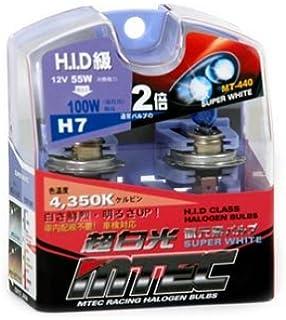Amazon com: MTEC 4X Super White H7 Bulbs (High Wattage