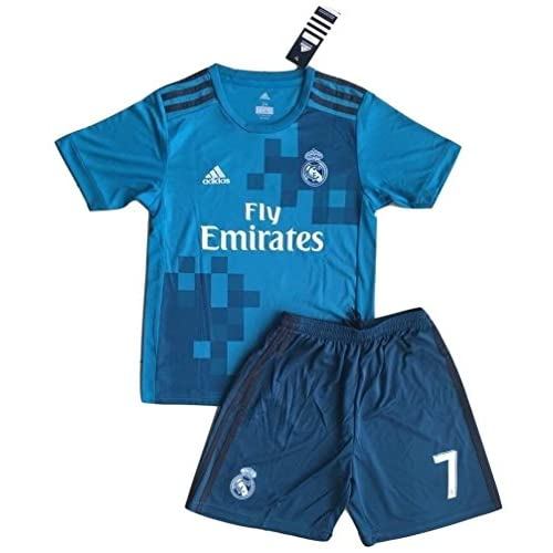 815fb6e604b VVBSoccerStore New  7 Ronaldo 2017 2018 Real Madrid 3rd Jersey   Shorts For  Kids