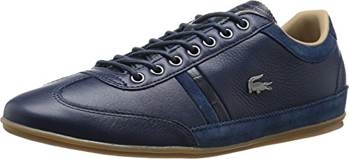 Lacoste Men's Misano 36 Srm Fashion Sneaker, Navy, 8 M US