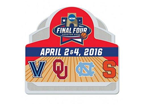 WinCraft 2016 NCAA Final Four College Basketball 4 Team Logos Houston Metal Pin