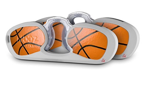 Decal Style Vinyl Skin Wrap 2 Pack for Nooz Glasses Rectangle Case Basketball (NOOZ NOT INCLUDED) by WraptorSkinz