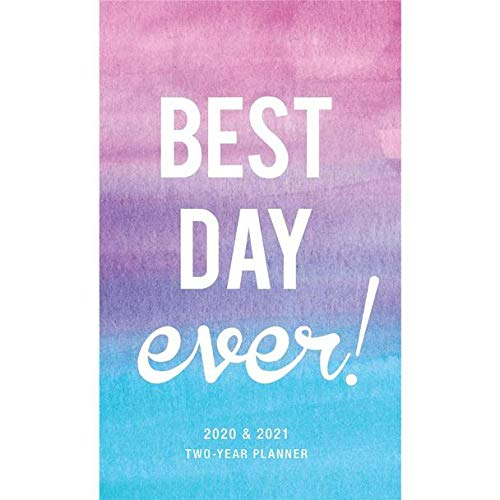 "Graphique 2020""Best Day Ever"" 2 Year Planner — 29-Month Planner in 4 Languages, Includes Notes, Reference Pages, Public and Culturally Significant Holidays, 3.75"" x 6"""