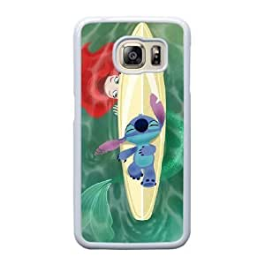 Grouden R Create and Design Phone Case,Stitch and Angel Cell Phone Case for Samsung Galaxy S6 Edge White + 1*Touch Stylus Pen (Free) GHL-2868601