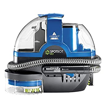 Image of Bissell SpotBot Pet handsfree Spot and Stain Portable Deep Cleaner, Blue, 2117A Home and Kitchen