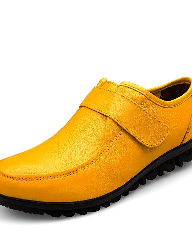 Amarillo us9 Casual Redonda de Punta yellow Trabajo Punta mujer us9 us9 y Plano eu40 uk7 yellow uk7 Cuero Cerrada yellow Negro Oficina Zapatos cn41 eu40 uk7 Oxfords Tacón ZQ cn41 eu40 Vestido YSwqT6q