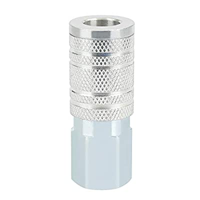 WYNNsky Air Tools Accessories Fittings,Air Quick-Connect Fitting,1/2'' MNPT Zinc-Plated Steel Air Coupler,I/M Type