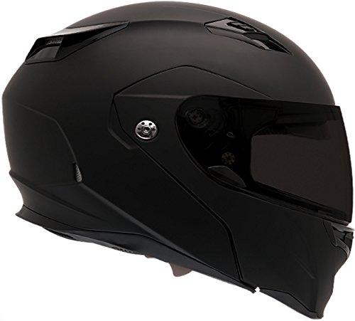 (Bell Revolver Evo Modular Motorcycle Helmet (Solid Matte Black,)
