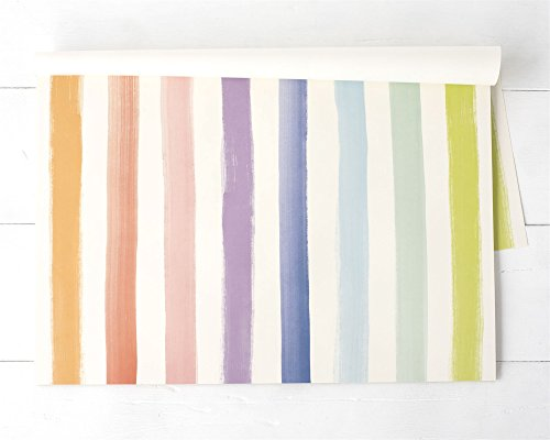 (Hester & Cook Paper Placemat, Pad of 24 - Sorbet Painted Stripe)