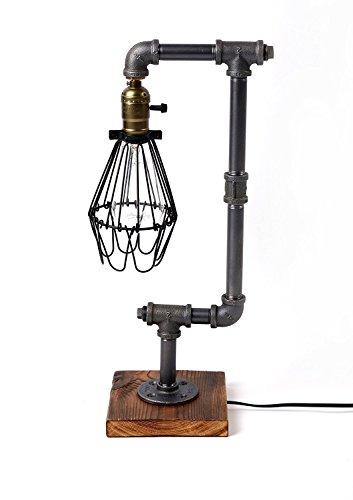 edison bulb desk lamp injuicy lighting vintage industrial metal iron led water pipe desk lamps office bedroom edison bulb wood table lights stand loft bar reading