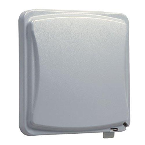 Taymac MM1410G Flat Weatherproof Plastic Cover 55 Configurations Vertical/Horizontal Two Gang, Flat Grey