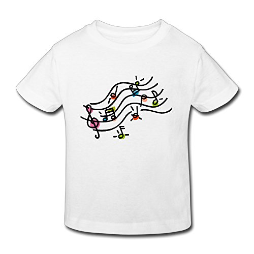 Vinda Yves Cotton Funny Music Melody Note Toddler Kids Tees (Moo Moo Facebook)